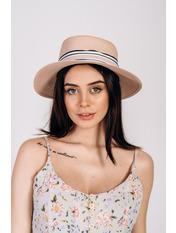 Шляпа федора Сарон Розовый 57 Пудровый