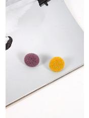 Серьги пусеты SER-21270 Лиловый+желтый Фиолетовый
