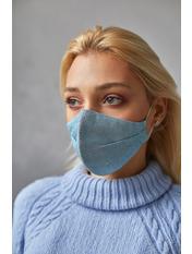 Маска защитная для лица Шайн one size Голубой