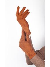Женские перчатки Тайси Коричневый L Ярко-коричневый