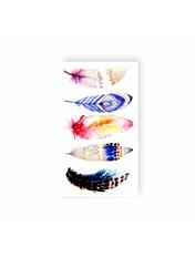 Бодиарт сет Разноцветные перья Разноцветный Разноцветный