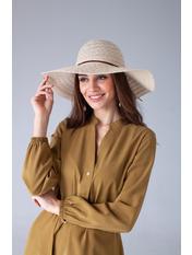 Шляпа широкополая Кими 57-58 Молочный Молочный