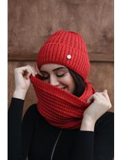 Комплект шапка и снуд Колин one size Красный