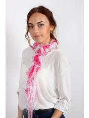 Шарф Клавдия Длина 105(см)/ Ширина 15(см) Розовый Розовый
