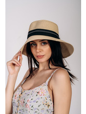 Шляпа слауч Памела Бежевый 56 Бежевый