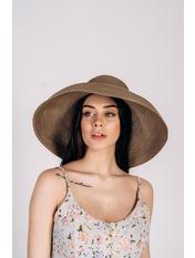 Шляпа широкополая Хелен Капучино 56 Темно-капучиновый