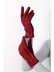 Женские перчатки замшевые сенсорные Винс Бордовый one size Марсаловый