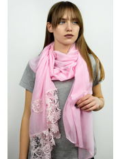 Шарф Есения 180*65 Розовый Розовый