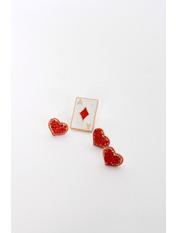 Набор брошек Эстил Длина 2/1(см) / Ширина 1.4/1.3(см) Красный Красный+белый
