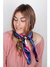 Платок атласный PLA-21100 Синий Розовый Синий+розовый