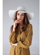 Шляпа широкополая Кими 57-58 Белый Белый