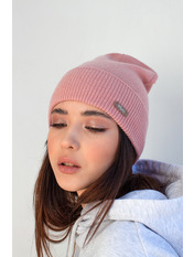 Шапка Байс one size Розовый Персиковый