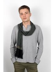 Чоловічий шарф Кастор 160*30 Синій Індиго