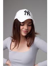 Бейсболка NewYork 57-58 Белый Бело-черная