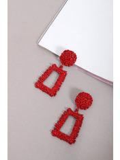Серьги Ариадна Длина 6(см)/ Ширина 4.2(см) Красный Красный