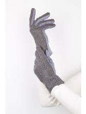 Женские перчатки Амина L Серый Серый
