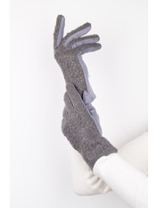 Женские перчатки Амина M Серый Серый