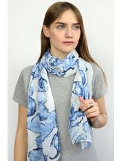 Шарф Тутти 150*50 Голубой Светло-голубой