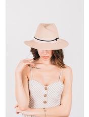 Шляпа федора Жаслин Розовый Пудровый 54-56