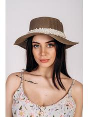 Шляпа канотье Винн Капучино Темно-капучиновый 57