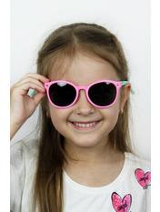 Солнцезащитные детские очки Фауна Общая ширина 13.0(см)/ Высота линзы 4.0(см)/ Ширина линзы 4.5(см) Розовый Розовый