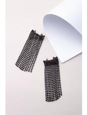 Серьги подвески SER-21051 5,5*1,2 Черный