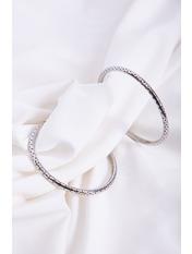 Серьги кольца SER-21351 Серебристый