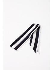 Шарф Корин 88*5 Черный Черно-белый