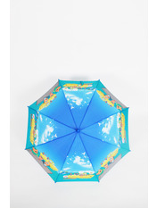 Зонт детский Клипси 100*49*68 Синий Синий+серый