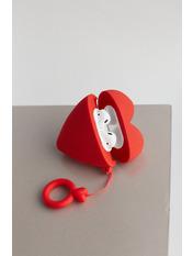 Чехол для наушников Apple Сердечко one size Красный Красный