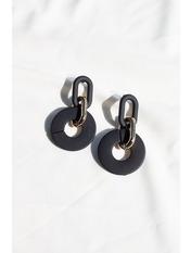 Серьги подвески SER-21147 Черный 6,5*3,5