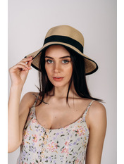 Шляпа слауч Джеми Бежевый 55 Бежевый