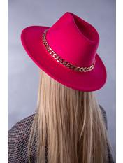 Шляпа фетровая SHL-А1(7) Розовый Малиновый