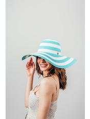 Шляпа широкополая Фарлей Голубой Светло-голубой 54-56