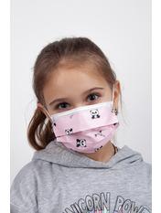 Маска защитная для лица детская гигиеническая one size Пудровый