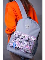 Рюкзак RYK-144 Сірий Сіро-рожевий