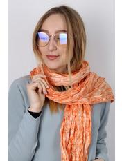 Шарф Косичка однотонный 170*50 Оранжевый Оранжевый