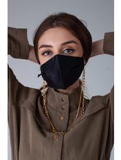 Маска защитная для лица Грейс 21*13 Черный