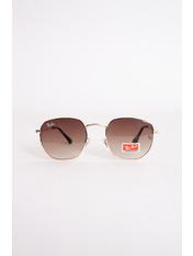 Солнцезащитные очки 3548 13*5 Коричневый+золотой Золотистый