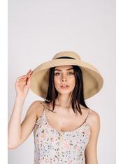 Шляпа широкополая Хелен Бежевый Бежевый 56