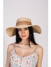 Шляпа широкополая Алиса 55-56 Капучино Капучиновый