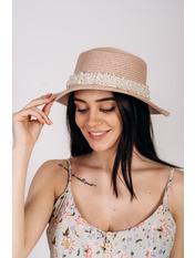 Шляпа канотье Винн Розовый Пудровый 57