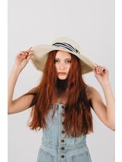 Шляпа широкополая Альда Молочный 54-56