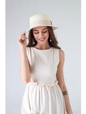 Шляпа канотье SHL-1792 Белый Молочный 57