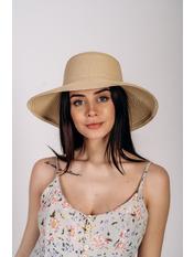 Шляпа слауч SHL-2045 Коричневый Бежевый