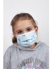 Маска защитная для лица детская гигиеническая one size Голубой