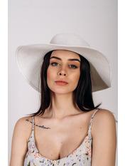 Шляпа широкополая Анджела Белый Белый 56