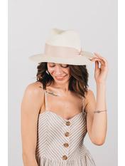 Шляпа федора Адель Молочный 54-56